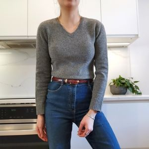 100% Pure Wool vneck sweater
